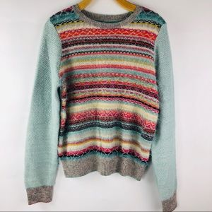Anthropologie Knitted & Knotted Multicolor Sweater